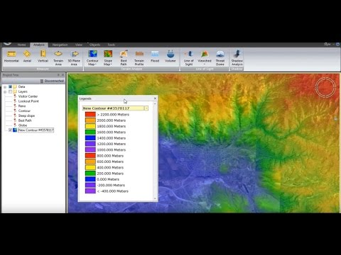 Skyline TerraExplorer 6.1 - Terrain Analysis Tools