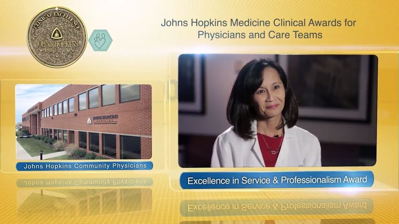 2017 Excellence in Service and Professionalism Award – Virginia Colliver, M.D., JHCP - YouTube