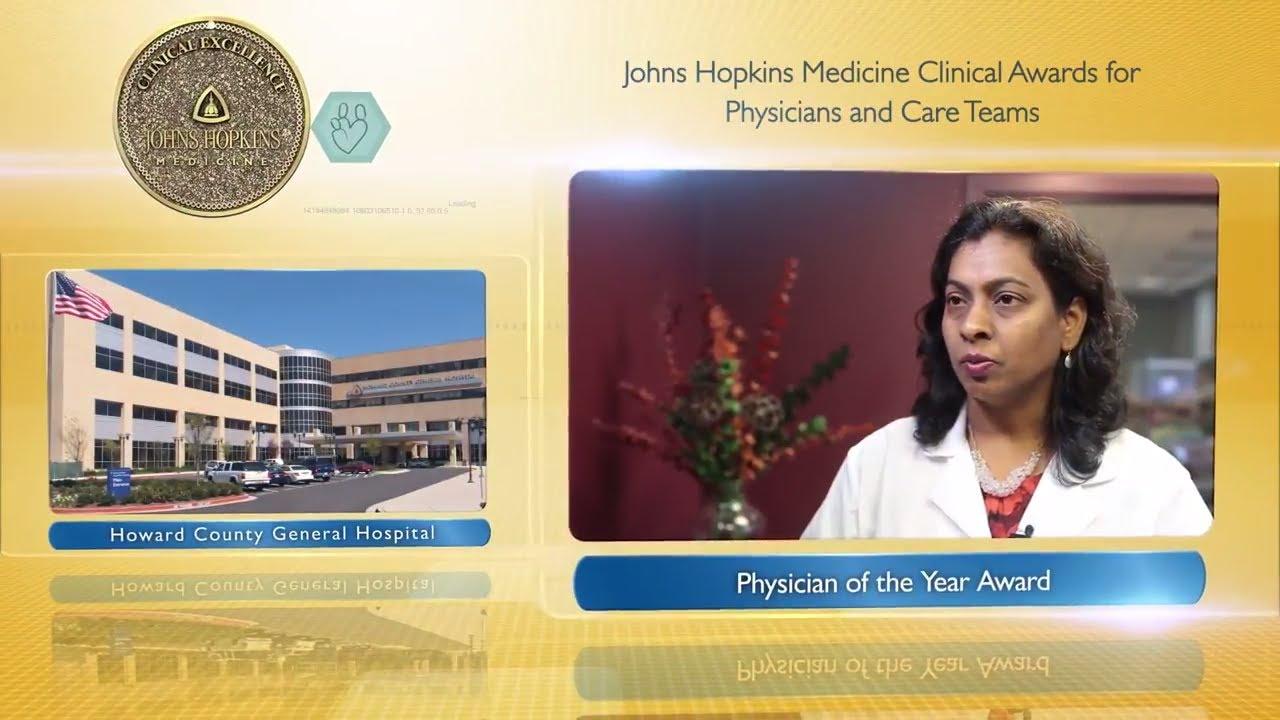 2017 Physician of the Year – Srilatha Kanumuru, M.D., Howard County General Hospital - YouTube
