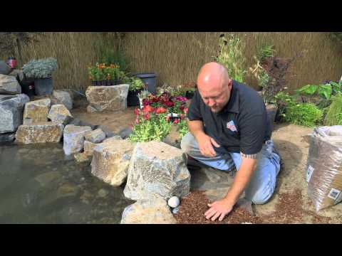 How to build a Fish Pond - Part 20 | Pond Edging & Landscape Borders