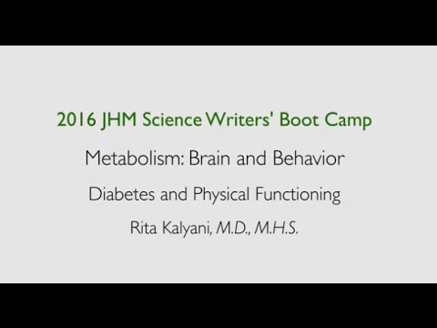 Diabetes and Physical Functioning | Rita Kalyani, M.D., M.H.S. - YouTube