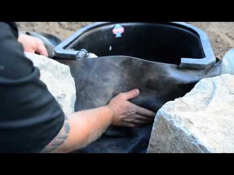 How to build a Fish Pond - Part 11 | Pond Skimmer Faceplate Attachment