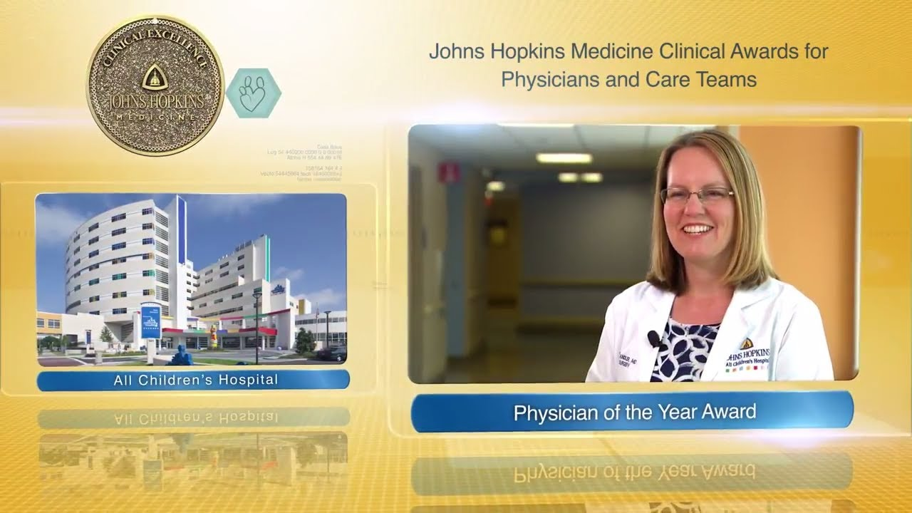 2017 Physician of the Year – Nicole Chandler, M.D., Johns Hopkins All Children's Hospital - YouTube