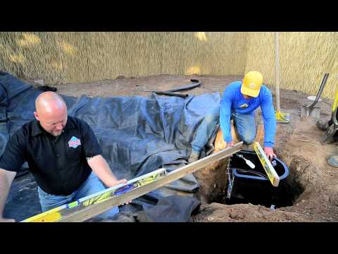 How to build a Fish Pond - Part 7 | Pond Skimmer Installation & Leveling