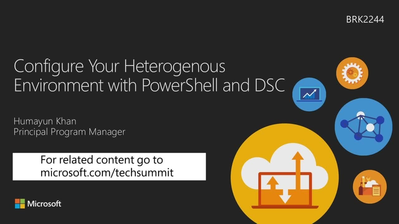 Configuring your heterogeneous environment with PowerShell and DSC - YouTube