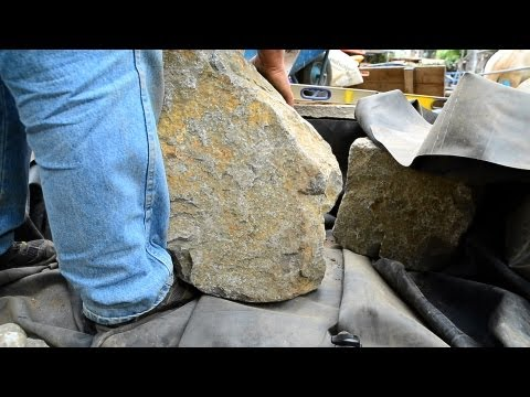 How to build a Fish Pond - Part 8 | Pond Construction Rock Placement (2 of 2)