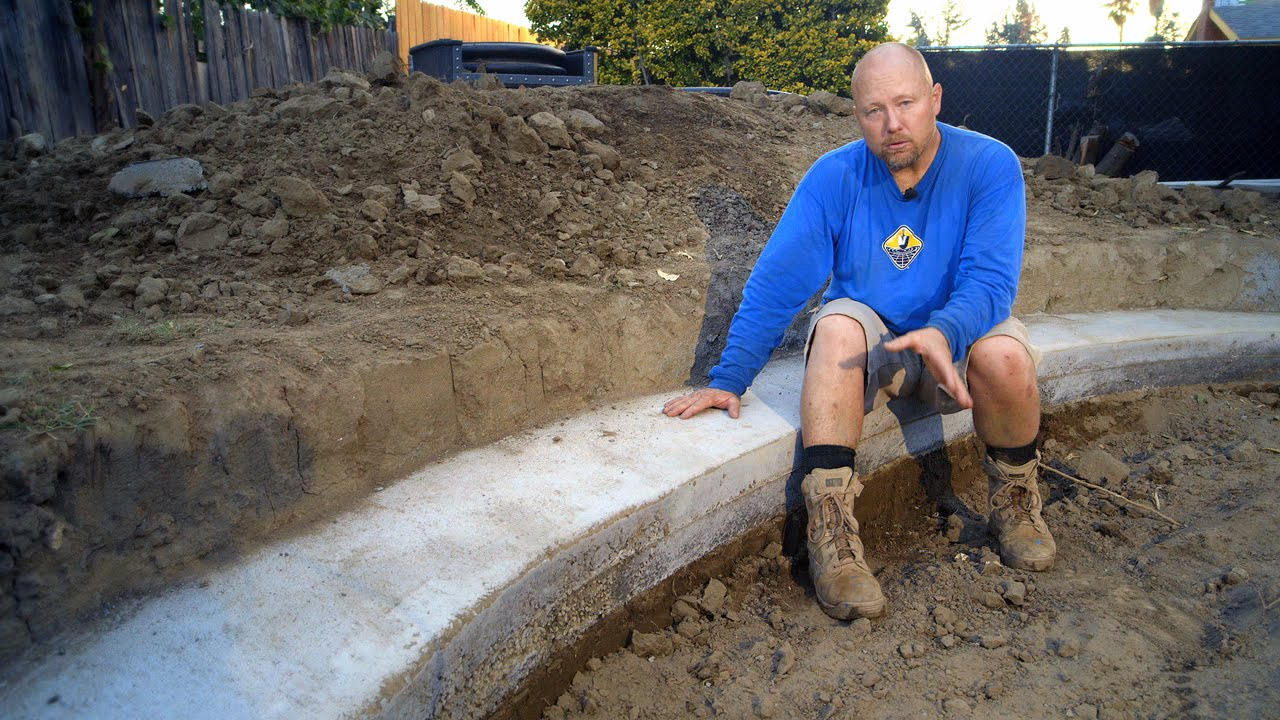 DIY Koi Pond Construction | Pond Excavation - Part 7 - YouTube