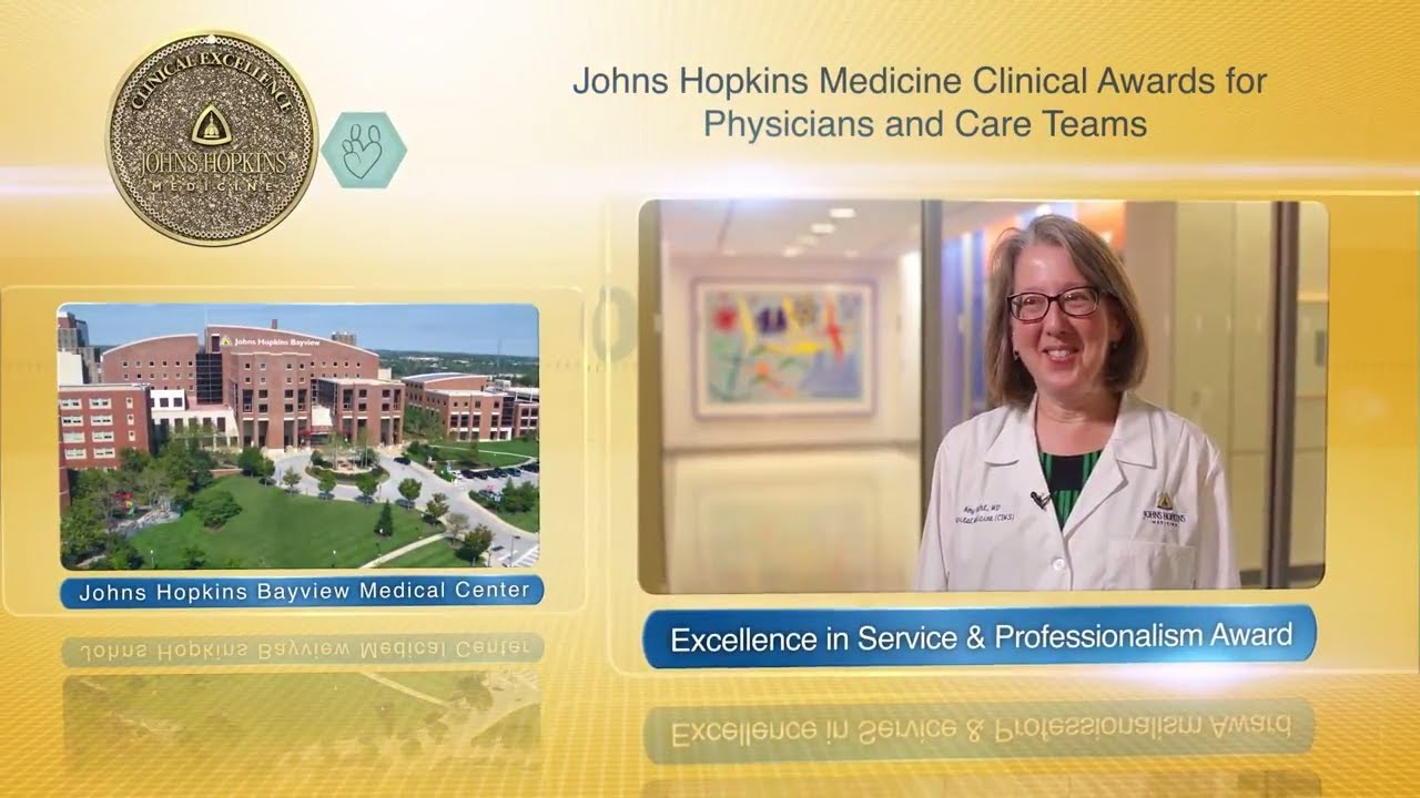 2017 Excellence in Service and Professionalism Award – Amy Knight, M.D., JH Bayview Medical Center - YouTube