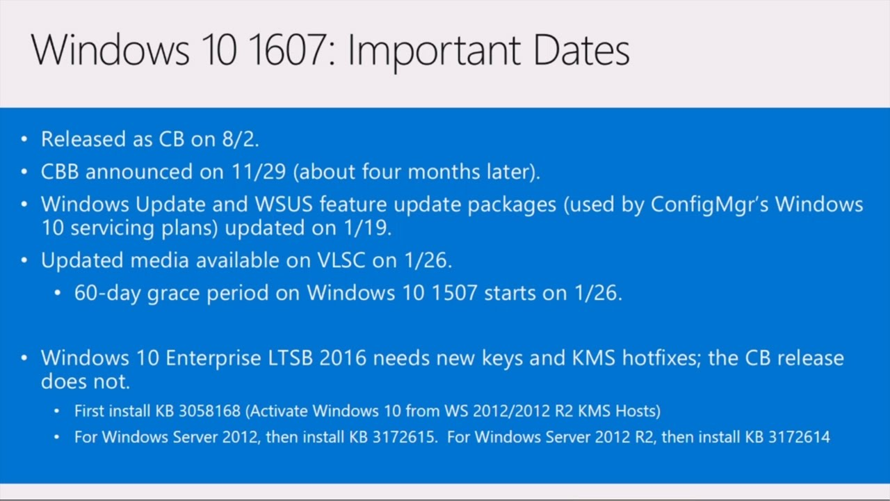 Enhance Windows 10 deployment: what's new with Windows 10 deployment? - YouTube