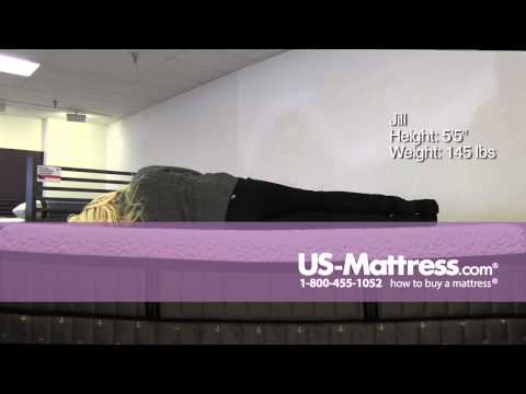 Stearns & Foster Lux Estate Hybrid Point Pinos Luxury Firm Mattress Comfort Depth with Jill
