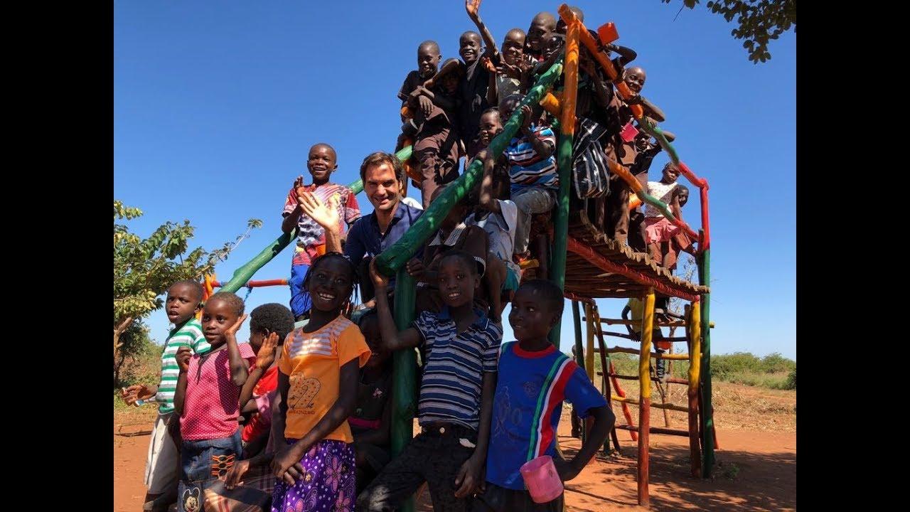Roger Federer Foundation, Zambia visit - YouTube