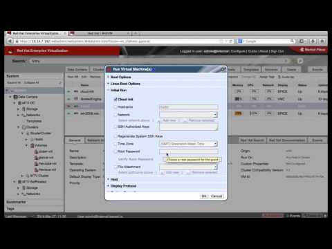 Demonstration of Red Hat Enterprise Virtualization 3.3