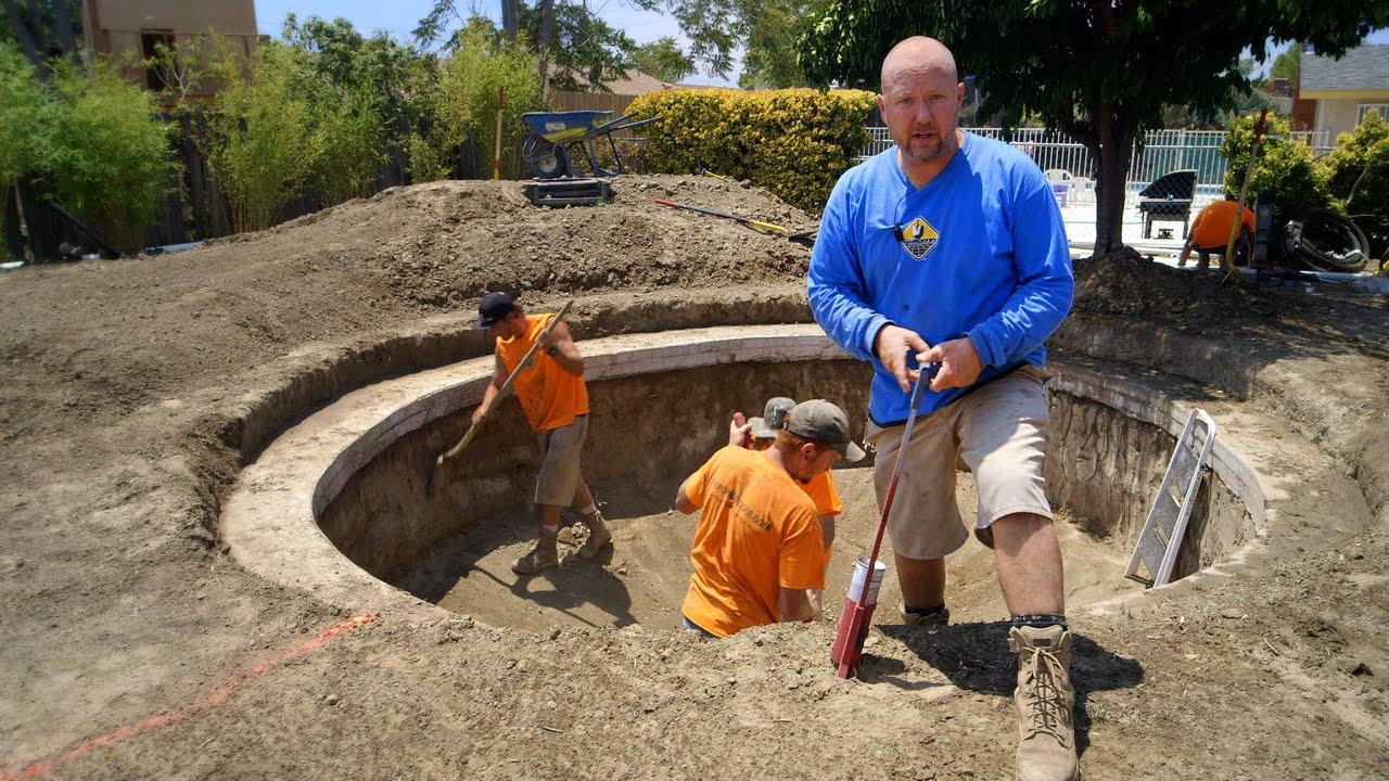 DIY Koi Pond Construction | Layout, Pond Design & Orientation - Part 8 - YouTube