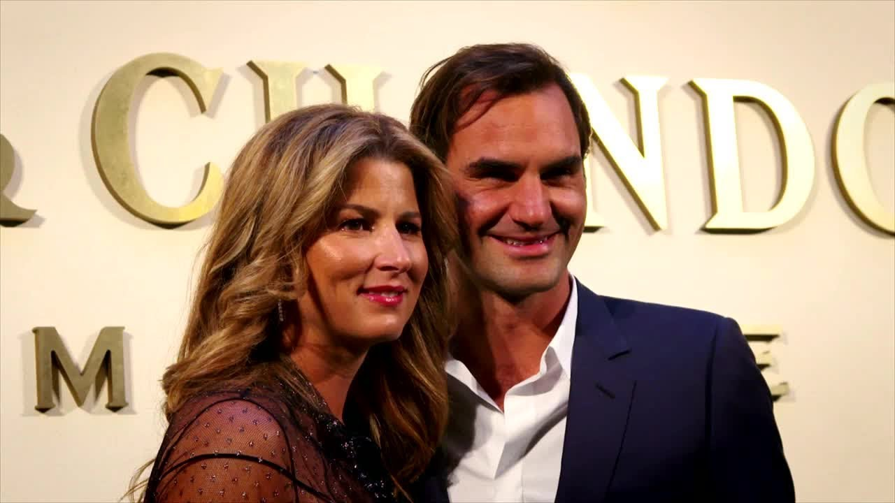 Federer Marks 20th Year On Tour With Special Party - YouTube