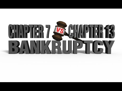 Filing Chapter 7 vs Chapter 13 Bankruptcy - YouTube