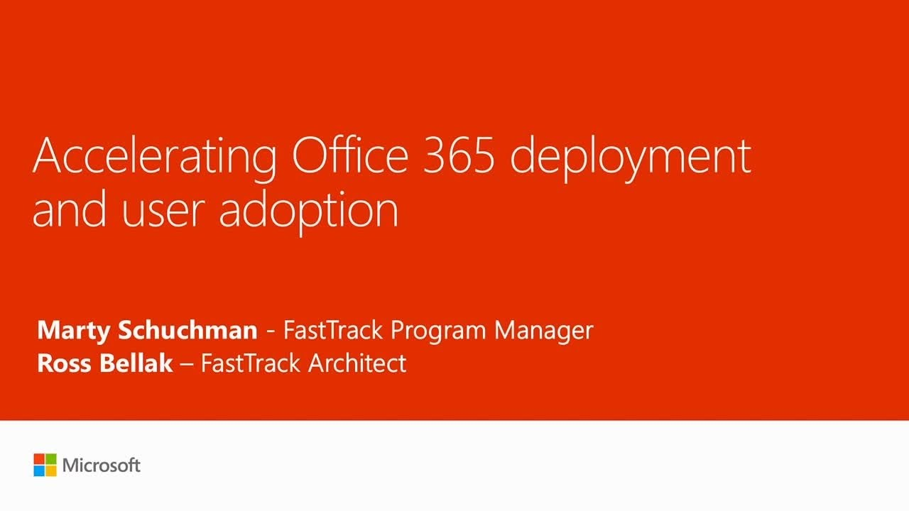 Accelerating Office 365 deployment and user adoption - YouTube