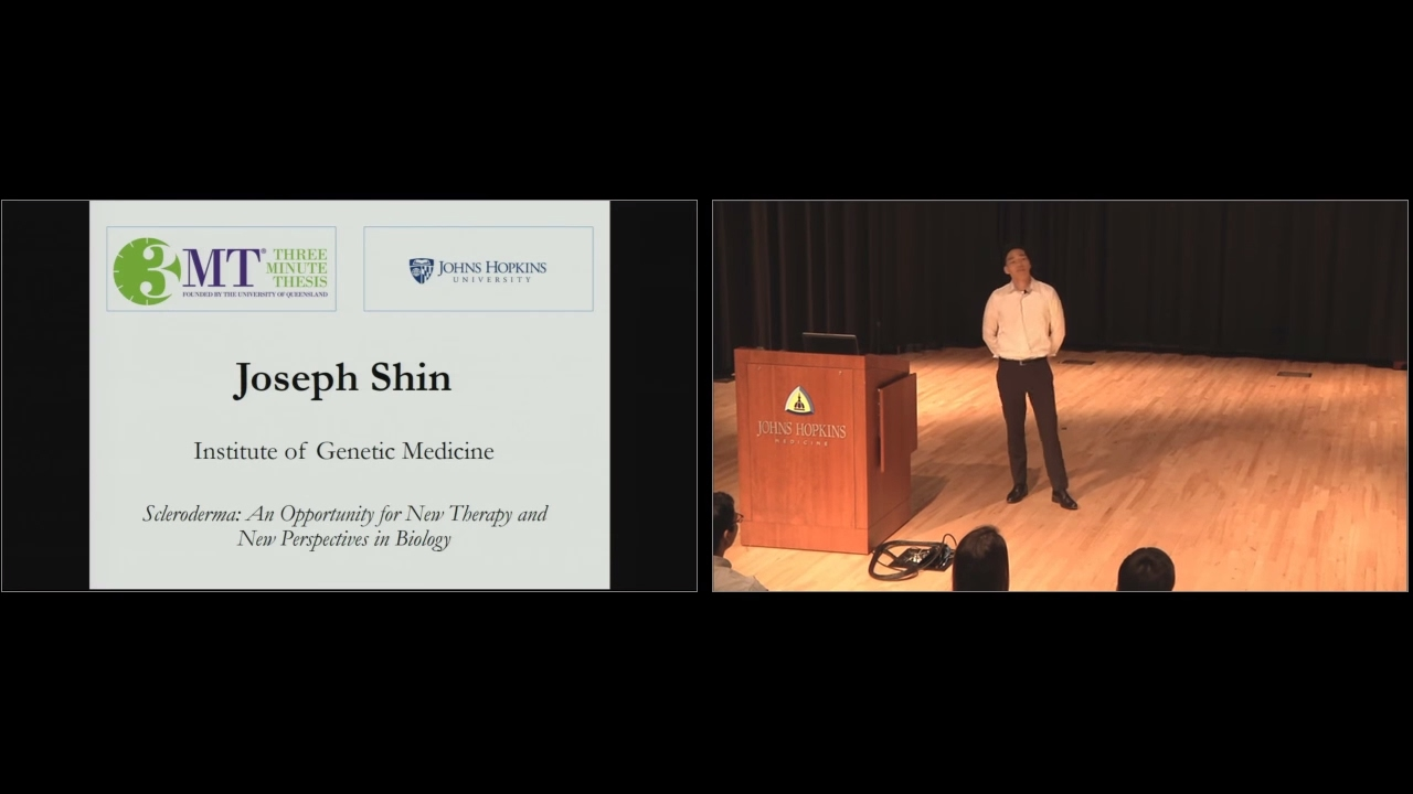 2017 Three Minute Thesis First Place Winner - Joseph Shin - Scleroderma - YouTube