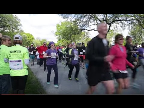 Annual Stride and Thrive Race for Gynecologic Cancer - YouTube