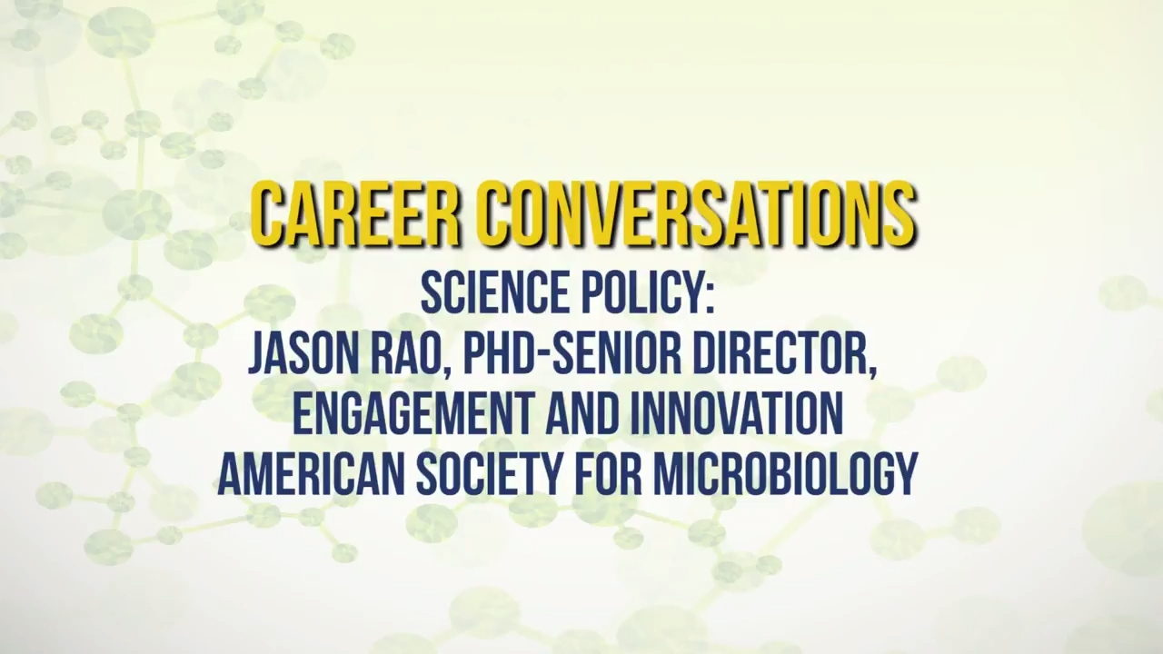 Science Policy | Career Conversation with Jason Rao - YouTube