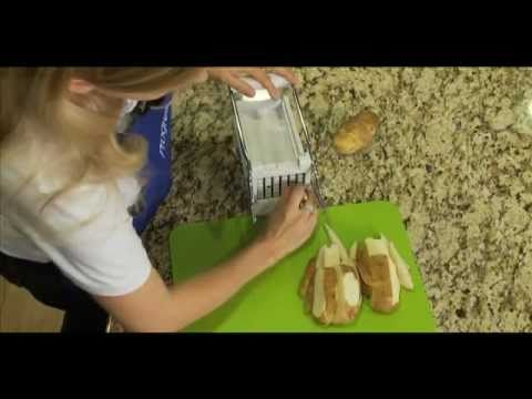Cooking Demo - Jumbo Potato Cutter - Progressive International - YouTube