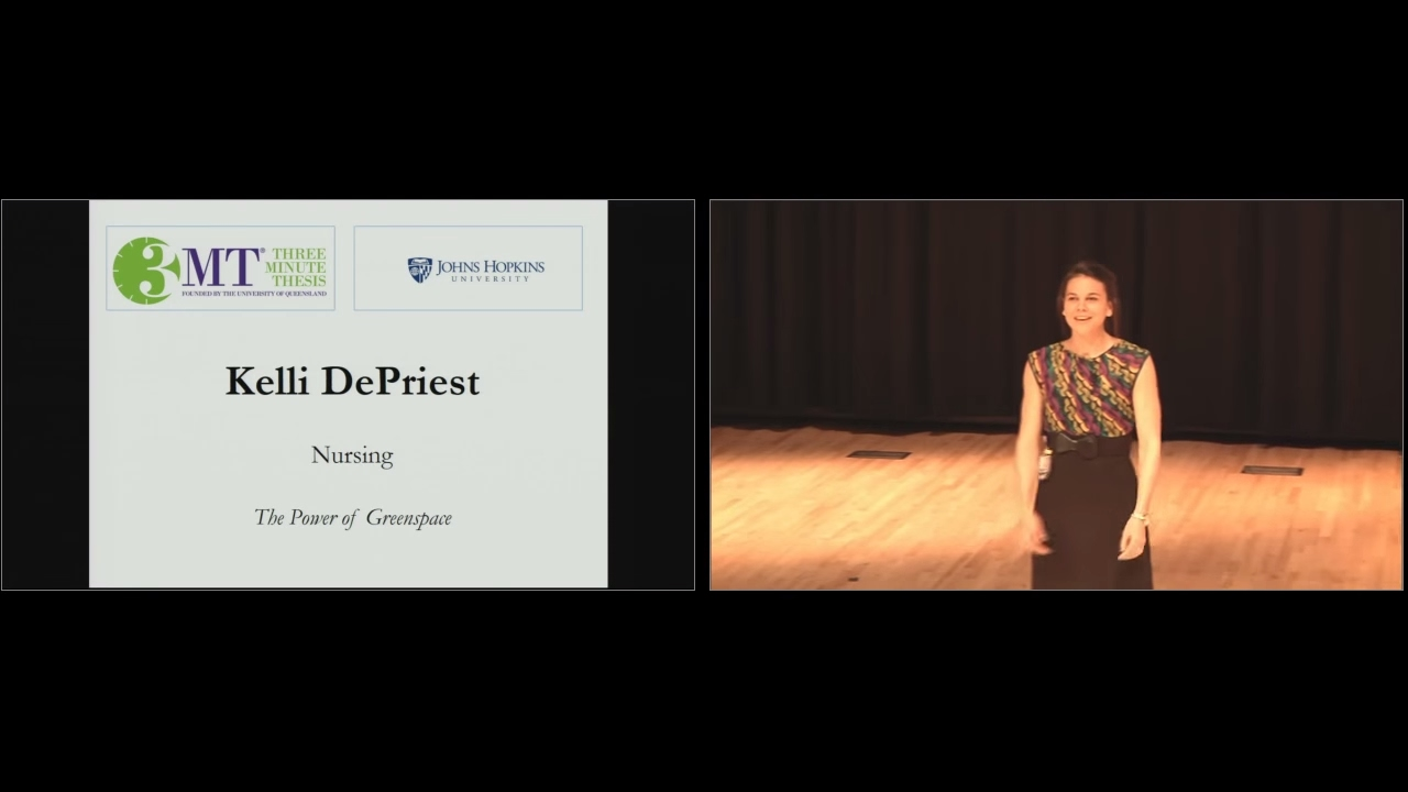 2017 Three Minute Thesis Second Place Winner - Kelli DePriest - Reducing Asthma with Green Space - YouTube