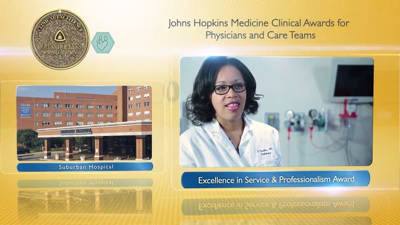 2017 Excellence in Service and Professionalism Award – Dominique Foulkes, M.D., Suburban Hospital - YouTube