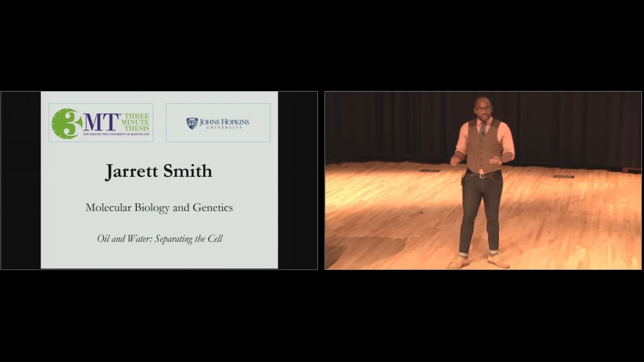 2017 Three Minute Thesis Third Place & People's Choice Winner - Jarrett Smith - Cell Separation - YouTube