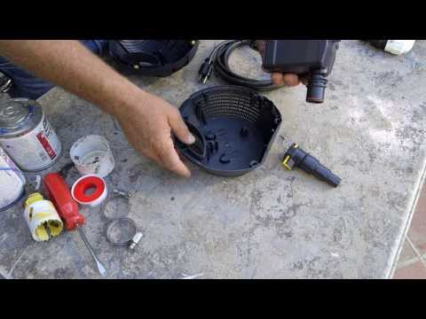 Patio Pond with Bog Filter | Pond Pump Installation & Maintenance - Part 5