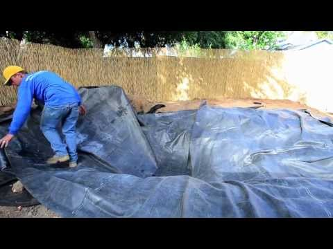 How to build a Fish Pond - Part 6 | Pond Liner & Underlayment