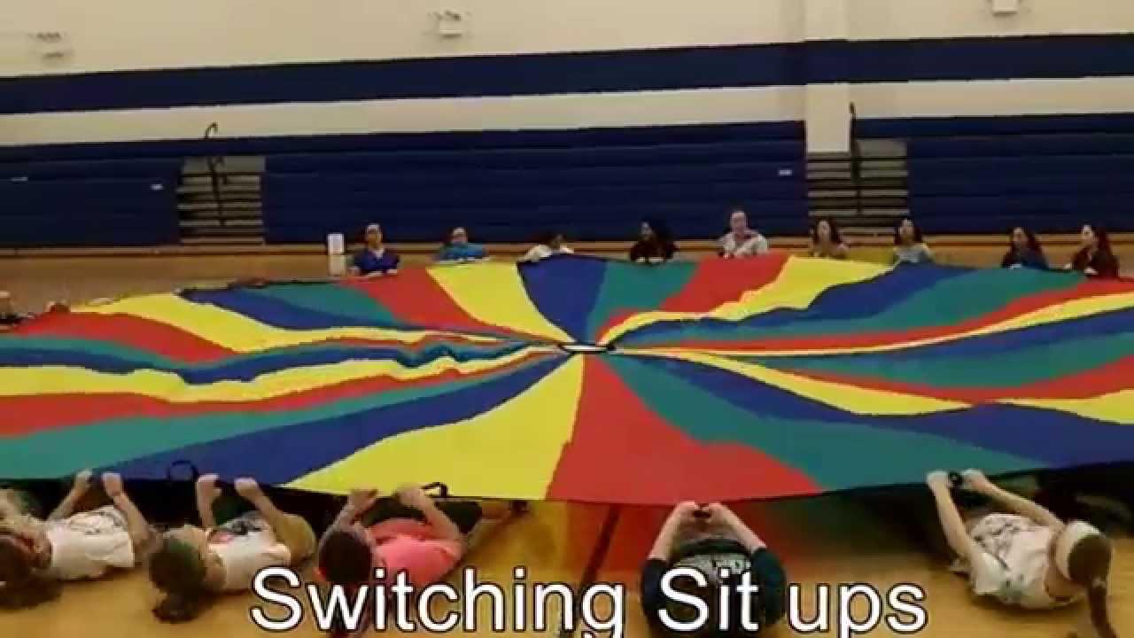 Kate Steele - Parachute Physical Education Lesson - YouTube
