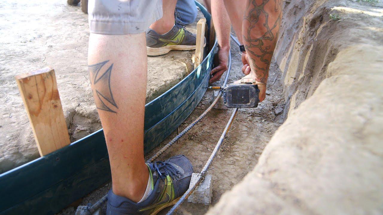 DIY Koi Pond Construction | Concrete Form Installation - Part 5 - YouTube