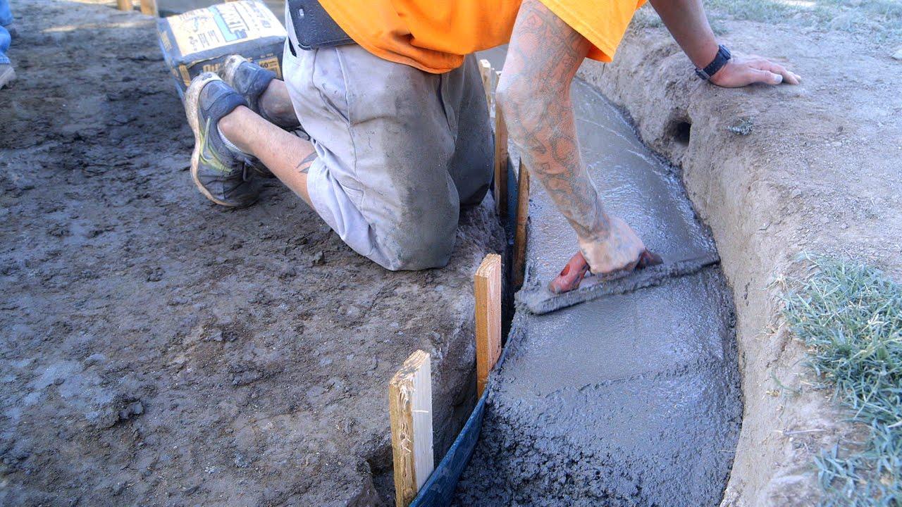 DIY Koi Pond Construction | Finishing & Pouring Concrete - Part 6 - YouTube