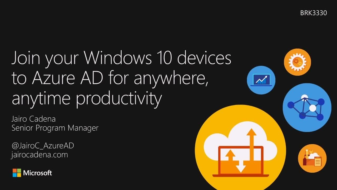 Join your Windows 10 devices to Azure AD for anywhere, anytime productivity - YouTube